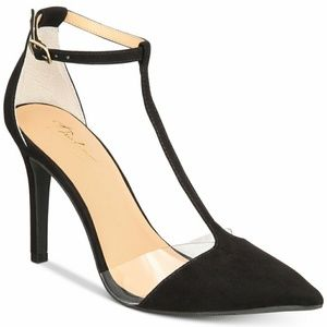 Shoes - Black T-strap heels
